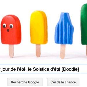 Google fête le 1er jour de l'été, le Solstice d'été [Doodle]