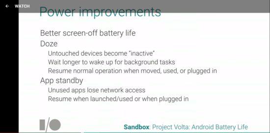 Android M : du changement dans la gestion de l'autonomie ?