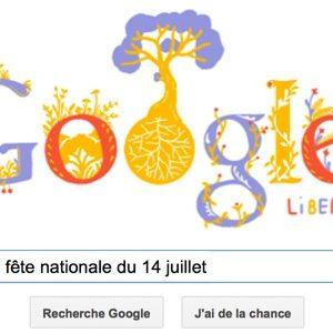 Google célèbre la fête nationale du 14 juillet