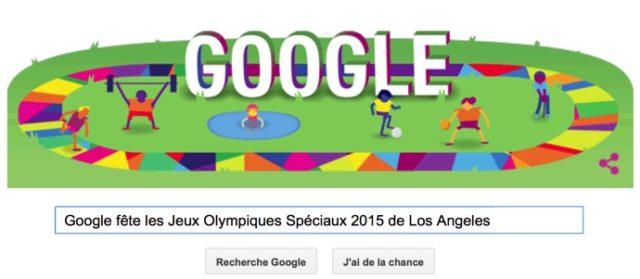 Google fête les Jeux Olympiques Spéciaux 2015 de Los Angeles [Doodle]