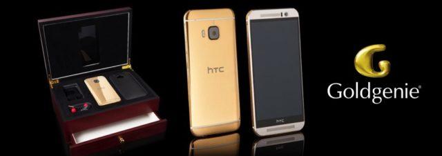 Vous rêviez d'un HTC One M9 en or, Goldgenie l'a fait !