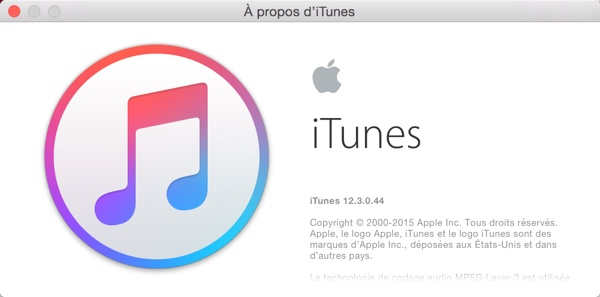 iTunes 12.3 est disponible au téléchargement [Liens directs]
