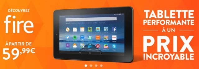 Amazon officialise une tablette Fire à moins de 60 €