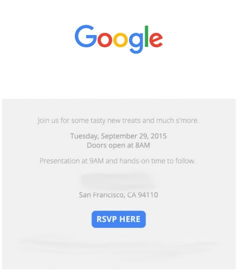 Google organise un événement le 29 septembre 2015