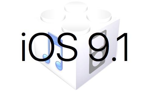 L'iOS 9.1 est disponible au téléchargement [liens directs]