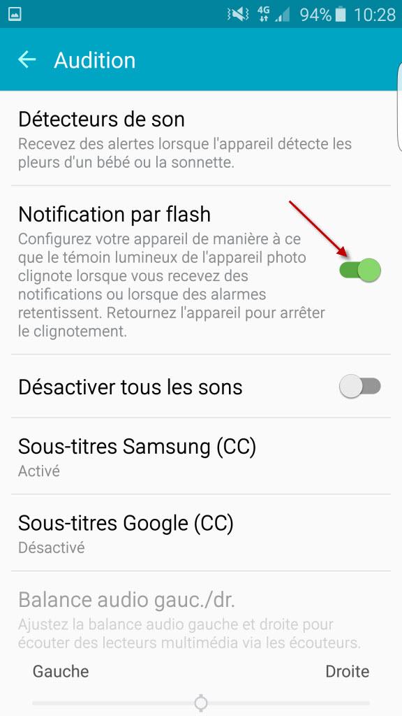 Comment activer la notification par flash pour les appels et SMS sur les Galaxy S6, Galaxy S6 Edge et Galaxy S6 Edge+ ? [Pas à Pas]