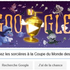 Pour fêter Halloween, Google vous invite à défier les sorcières à la Coupe du Monde des bonbons 2015 [Doodle]