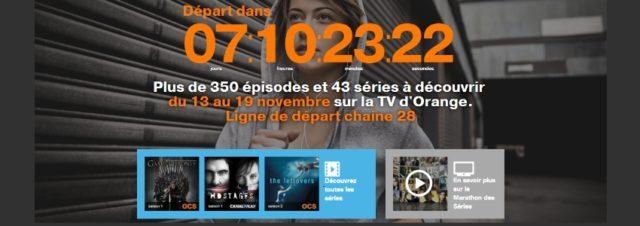 Orange TV : plus de 350 épisodes offerts lors d'un marathon des séries