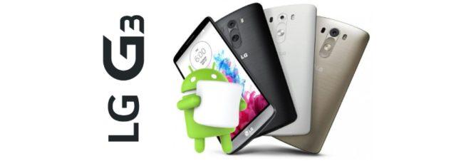 Le LG G3 recevra Android 6.0 Marshmallow avant la fin de l'année 2015