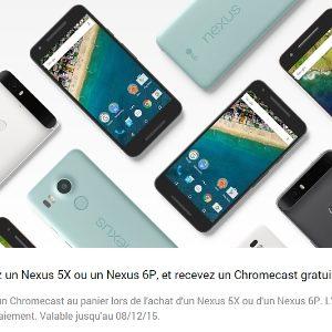 Le Nexus 5X est disponible en France et une clé Chromecast est offerte pour toute commande