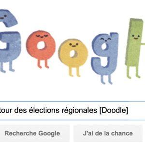 Google fête le 1er tour des élections régionales [#Doodle]