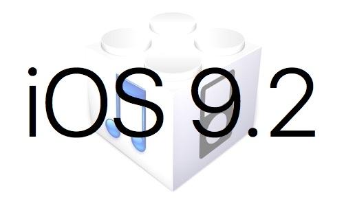 L'iOS 9.2 est disponible au téléchargement [liens directs]
