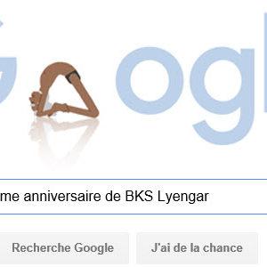 Google fête le 97ème anniversaire de BKS Lyengar