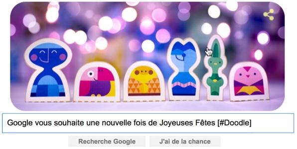 Google vous souhaite une nouvelle fois de Joyeuses Fêtes [#Doodle]