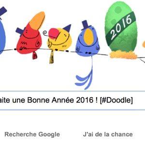 Google vous souhaite une Bonne Année 2016 ! [#Doodle]
