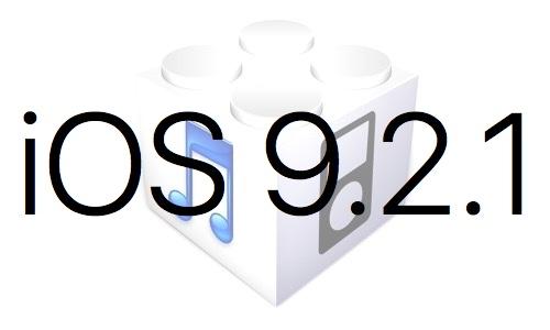 L'iOS 9.2.1 est disponible au téléchargement [liens directs]