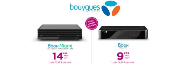 Bouygues Telecom propose des promotions sur les forfaits Bbox et Bbox Miami