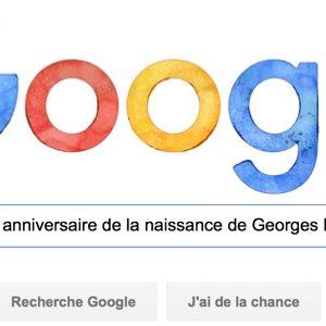 Google fête le 80e anniversaire de Georges Perec [#Doodle]