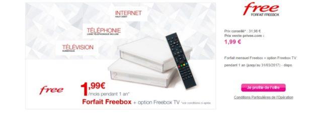 #Free propose une offre Freebox surprise sur vente-privee.com !