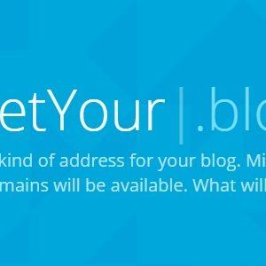 Les noms de domaine en .blog bientôt disponibles pour tous !