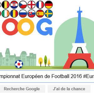 Google fête le championnat Européen de Football 2016 #Euro2016 [#Doodle]