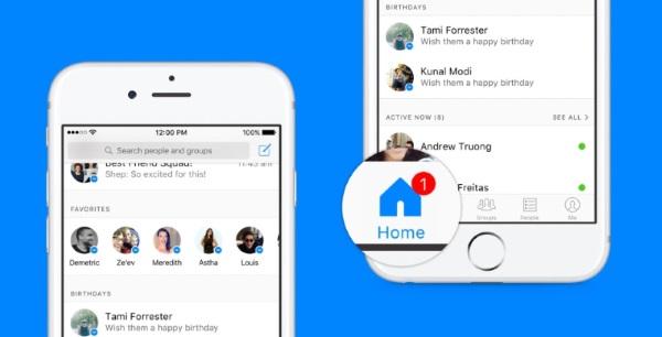 Facebook annonce l'arrivée d'un nouveau bouton Home sur Facebook Messenger