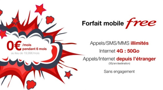 #FreeMobile propose son forfait 4G gratuitement pendant 6 mois sur Vente-Privee.com