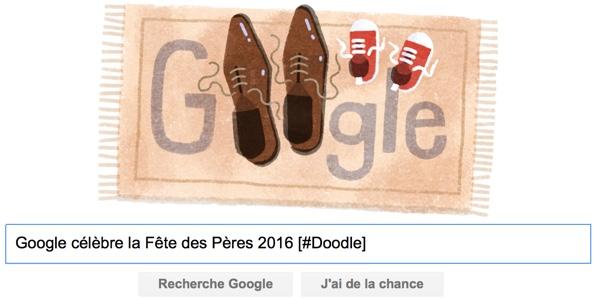 Google célèbre la Fête des Pères 2016 [#Doodle]