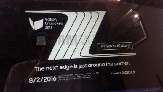 Le Galaxy Note 7 est désormais référencé sur le site Samsung