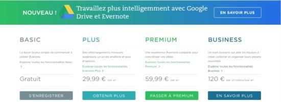 Evernote change ses offres et ce n'est pas top !
