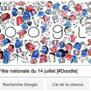 Google célèbre la Fête nationale du 14 juillet [#Doodle]