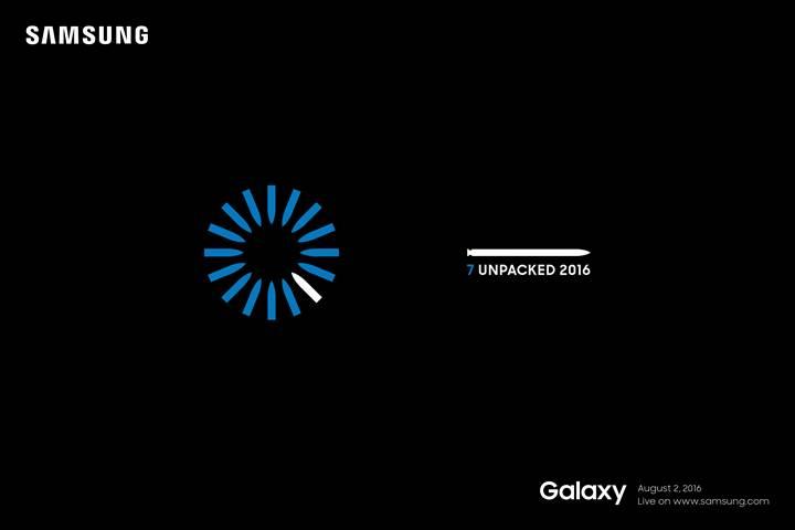 Samsung Galaxy Note 7 : presentation le 2 août et premières images
