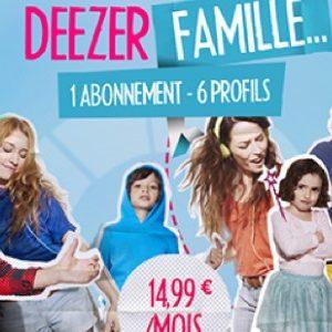 L'offre Deezer Famille est enfin disponible pour tous !