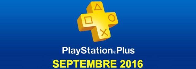 Playstation Plus : les jeux offerts du mois de septembre 2016