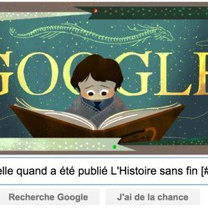 Google nous rappelle quand a été publié L'Histoire sans fin [#Doodle]