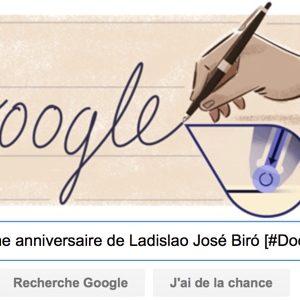 Google fête le 117ème anniversaire de Ladislao José Biró [#Doodle]