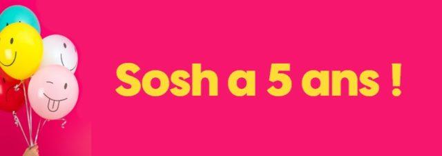 Sosh : l'opérateur fête ses 5 ans avec plein de cadeaux dont 20Go pour tous ses abonnés