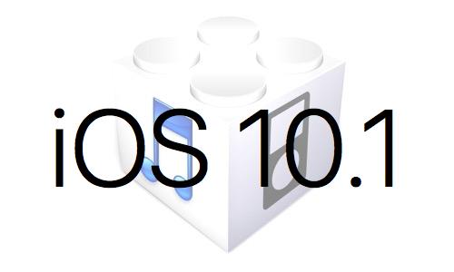 L'iOS 10.1 est disponible au téléchargement [liens directs]