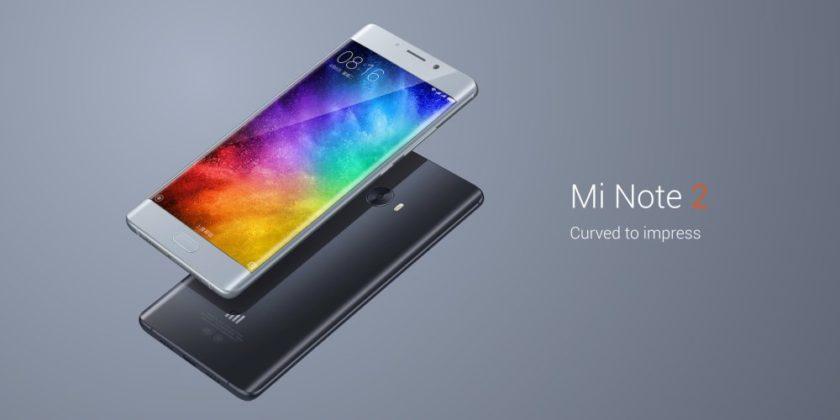 Le Xiaomi Mi Note 2 est maintenant officiel