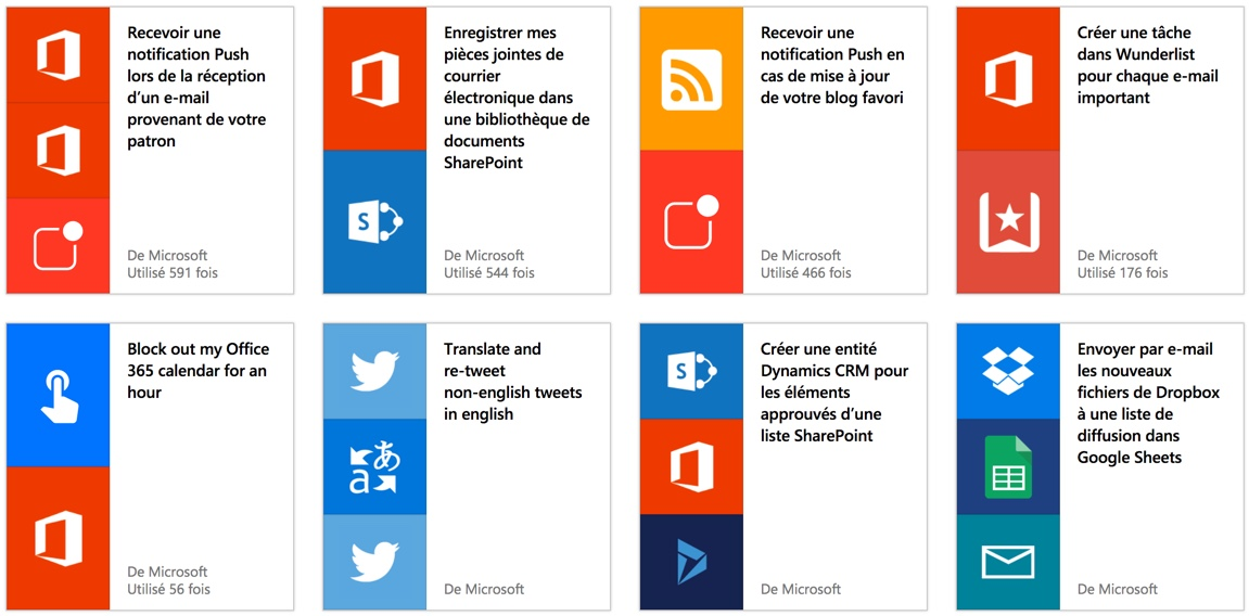 Microsoft lance Flow, son alternative à IFTTT