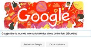 Google fête la journée internationale des droits de l'enfant [#Doodle]