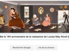 Google fête le 184e anniversaire de la naissance de Louisa May Alcott [#Doodle]