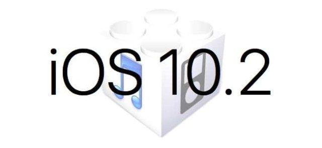 L'iOS 10.2 est disponible au téléchargement [liens directs]