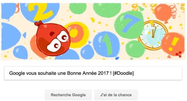 Google vous souhaite une Bonne Année 2017 ! [#Doodle]