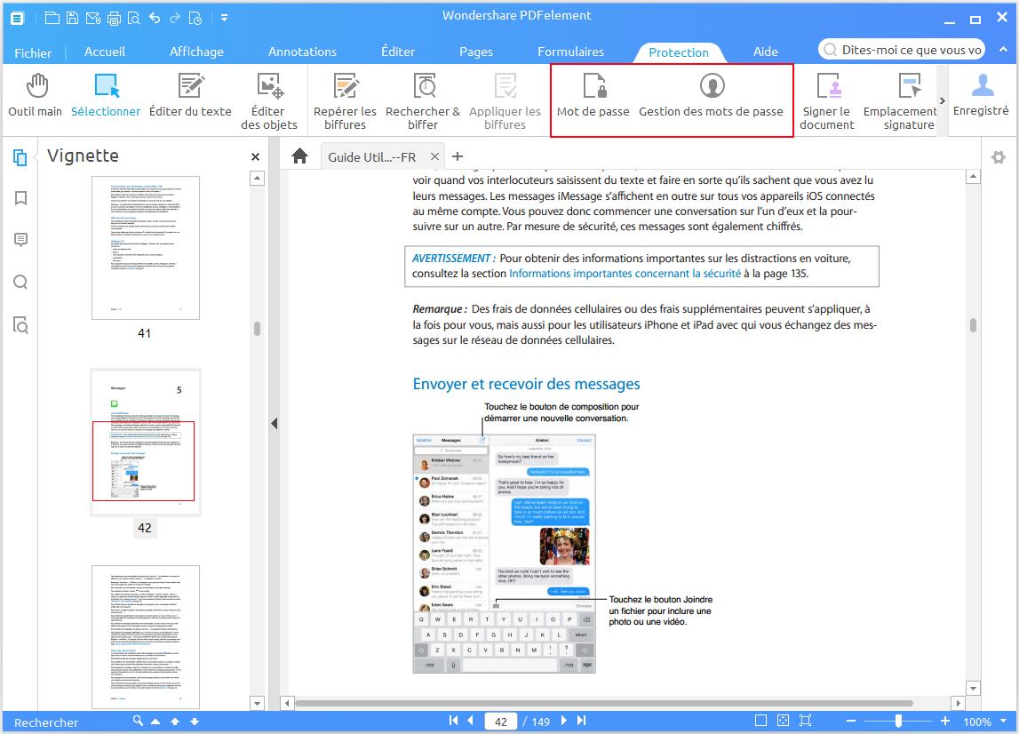 Comment verrouiller un fichier PDF avec Wondershare PDFelement [Tutoriel]