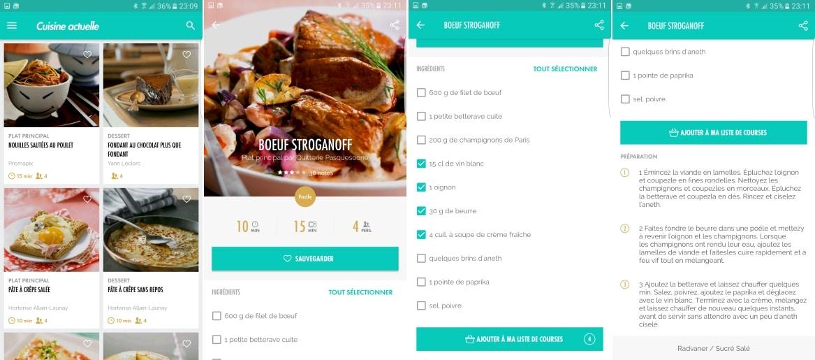 Applications Pour Cuisiner à Partir Des Ingrédients De Votre - Appli cuisine