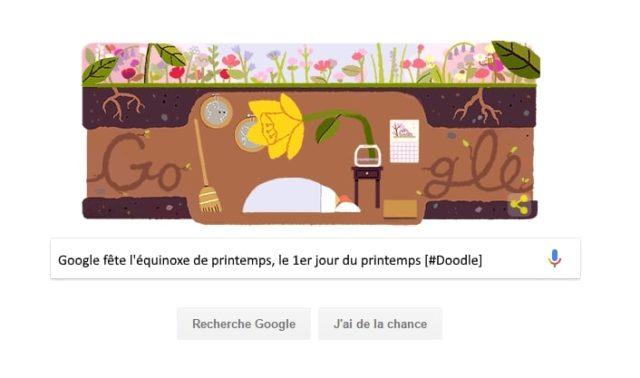 Google fête l'équinoxe de printemps, le 1er jour du printemps [#Doodle]