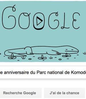 Google fête le 37e anniversaire du Parc national de Komodo [#Doodle]