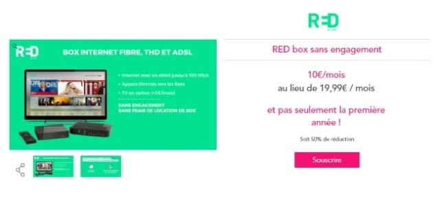 Red by SFR propose une offre Red box à 10€ par mois à vie