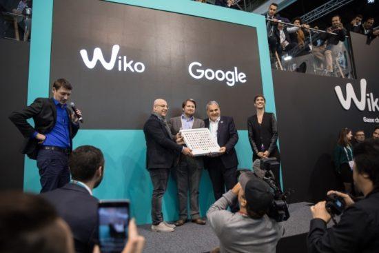 Wiko reçoit une récompense de la part de Google